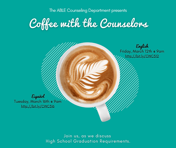Coffee with the Counselors - March 2021.