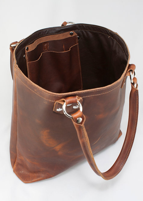 Leather Tote, Mk1