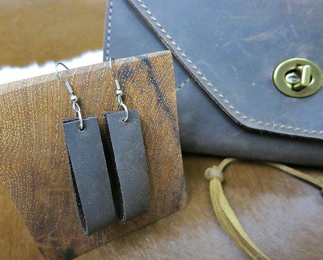 Leather Loop Earring