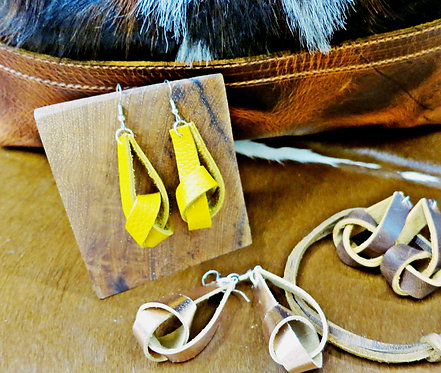 Leather Knot Earring