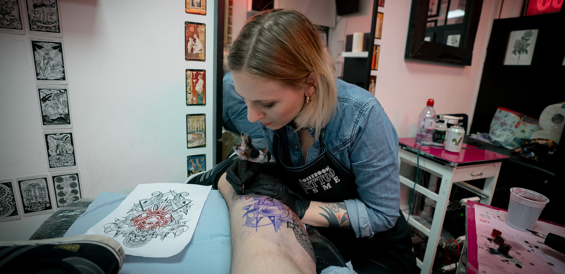 V4 The Kraken Artwork Designer Esme Baker Tattoo Artist Working at Boileroom Tattoo