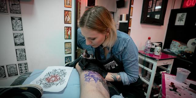 V4 The Kraken Artwork Designer Esme Baker Tattoo Artist Working at Boileroom Tattoo
