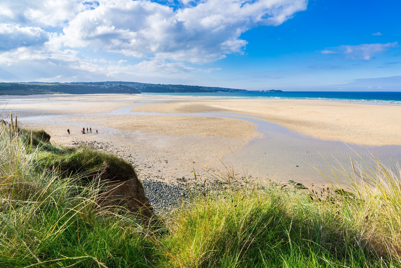 Golden sandy beach at Hayle