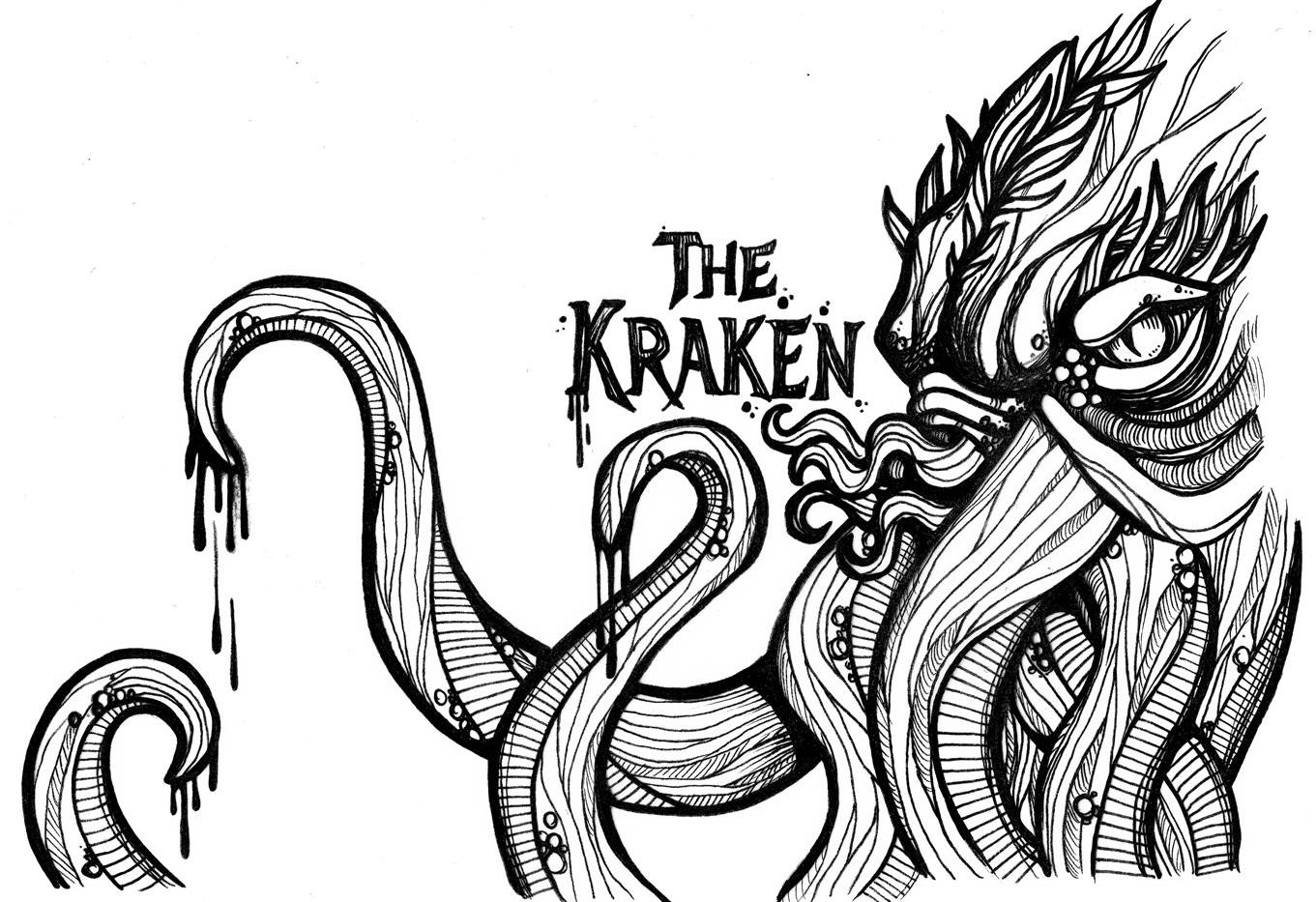 Victory V4 The Kraken Artwork Sketch