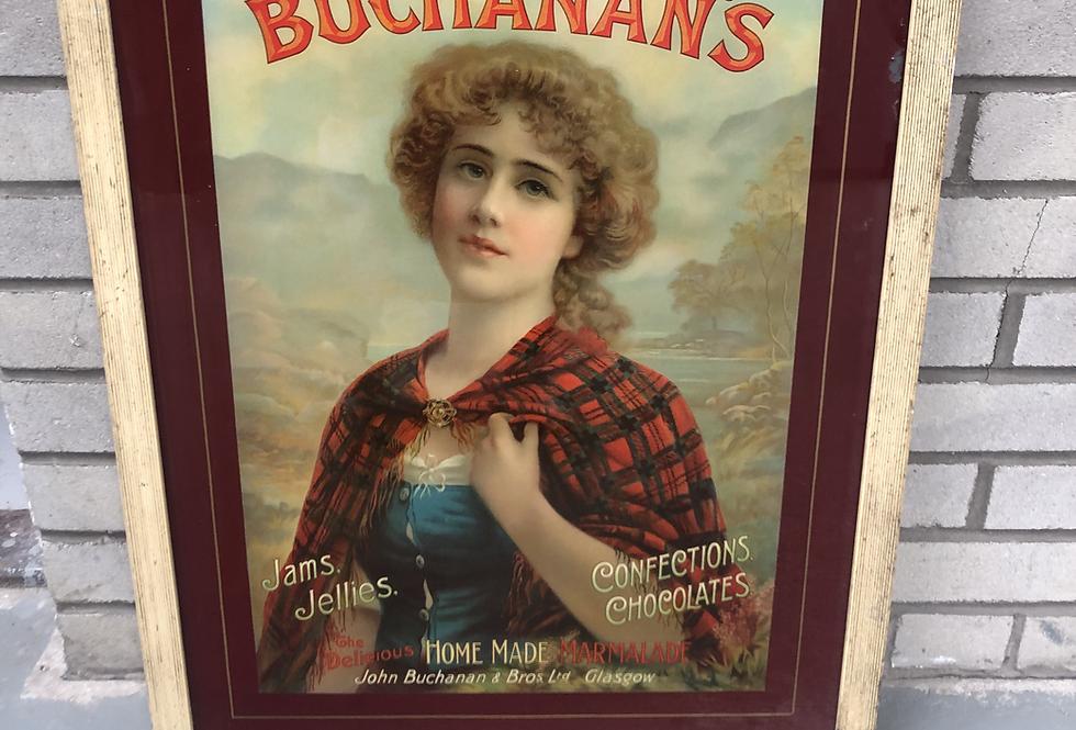 Buchanan's Antique Poster