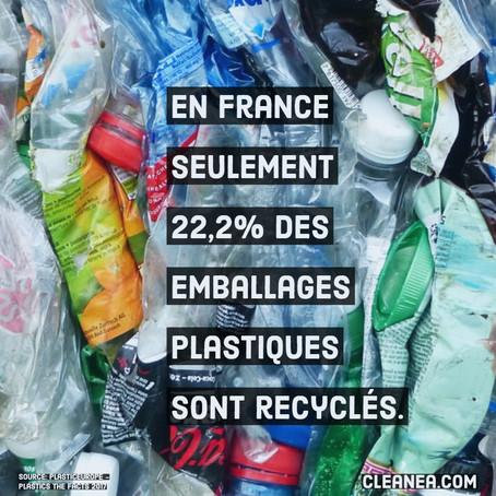 Infographie: un quart des emballages plastiques recyclé en France