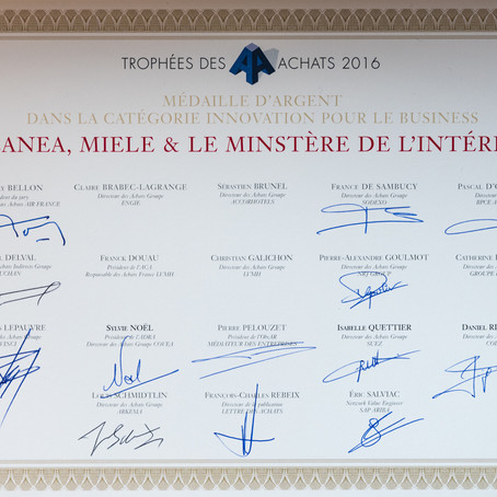Cleanea remporte la médaille d'argent aux Trophées des Achats 2016