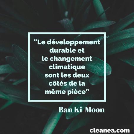 Le développement durable et le changement climatique - citation