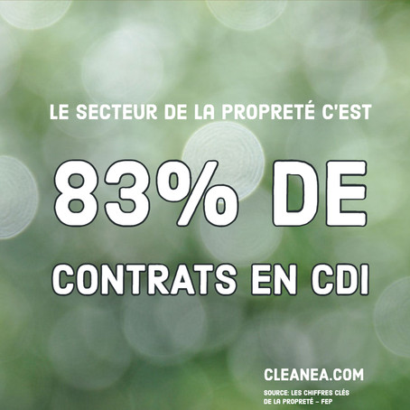 Infographie: Combien de contrat en CDI dans le secteur de la propreté?