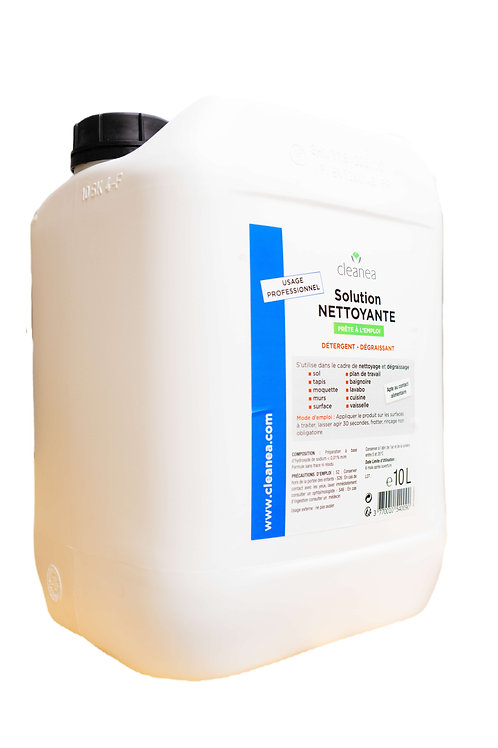 Bidon 10 L - Solution Bleue Nettoyante