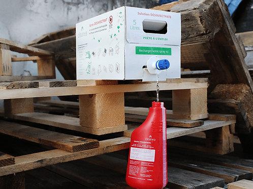 BagInBox 5L - Solution Rouge Désinfectante