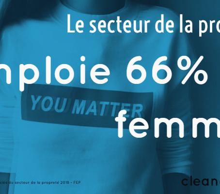 Combien de femmes le secteur de la propreté emploie t-il ?