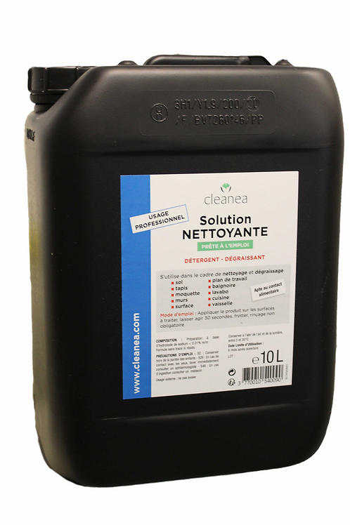 Bidon 10 L - Solution Bleue Nettoyante