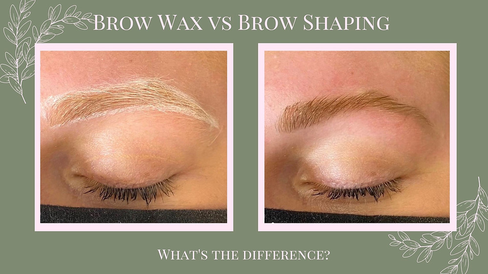 Brow shaping, before with mapping and after