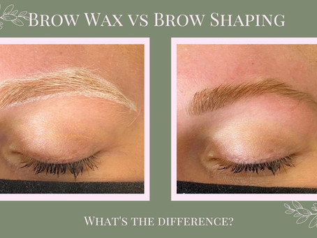 Brow Wax vs. Brow Shaping - What's the Difference?