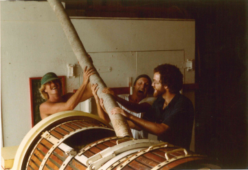 Early days at Santa Barbara Winery