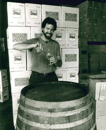 Bruce McGuire at sister winery, Santa Barbara Winery