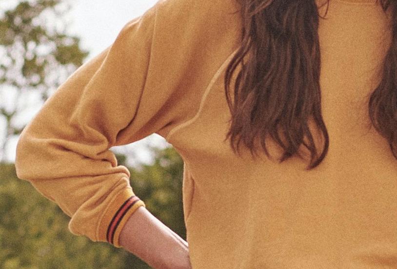 The Great Striped Shrunken Sweatshirt