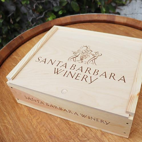 Triple Branded Wooden Box