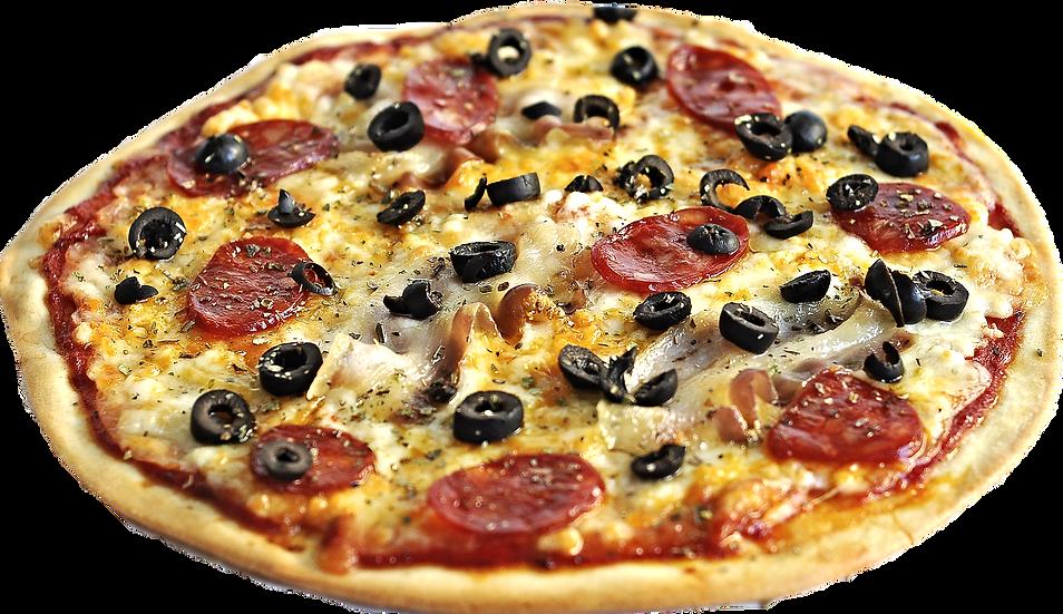 Pizza de Panceta y chistorra