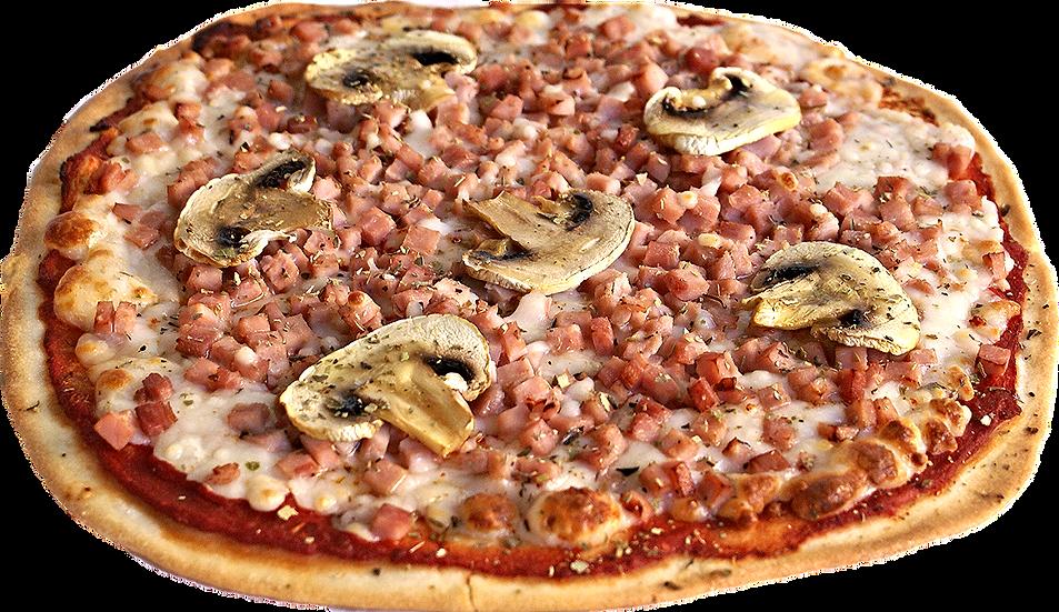 Pizza de Jamon York y champiñones