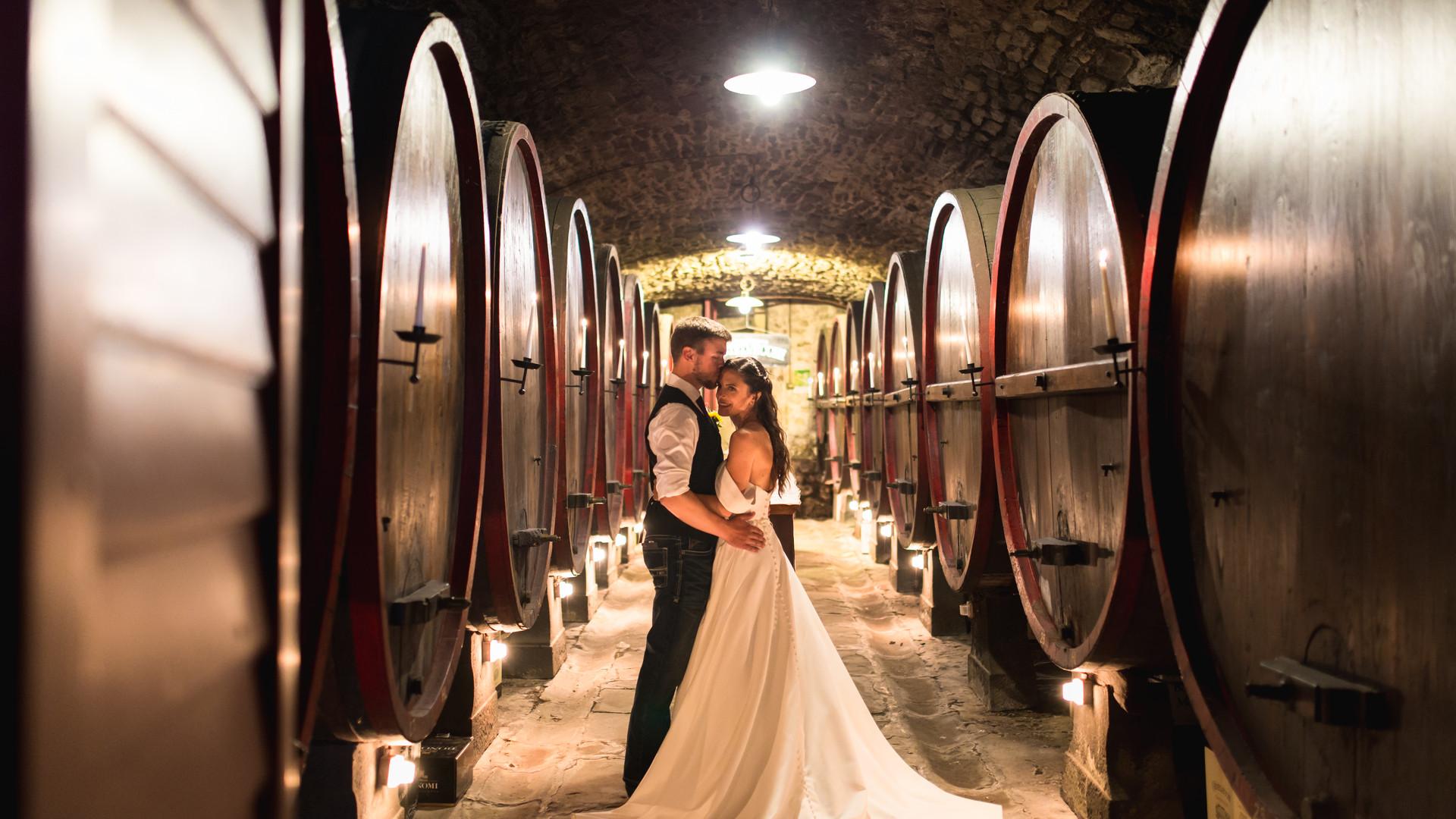 Foto nella cantina dei vini Borgo Castelvecchi Radda In Chianti Toscana