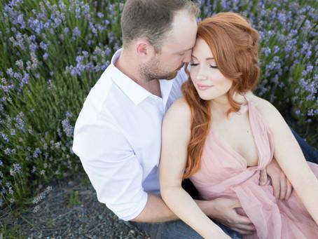 Chris & Brianna - Full Bloom Lavender Farm Engagement Session