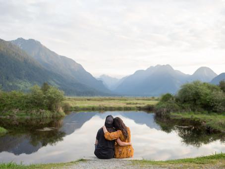 Sarah & Carly - Pitt Lake Engagement Session