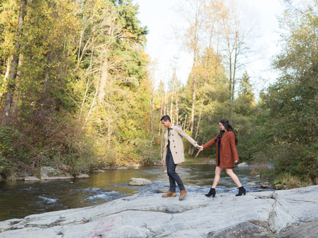 Tony & Genevieve - Golden Ears Park Engagement Session
