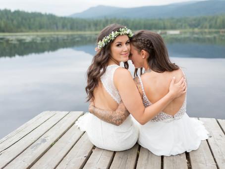 Carly & Sarah - Whonnock Lake Wedding