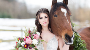 Winter Bridal on the Farm Inspiration
