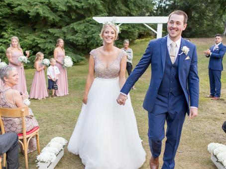 Byron & Courtenay - Eighteen Pastures Golf Course Mission Wedding