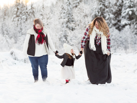 Jenna, Amanda & Harlow - Winter Wonderland Family Session