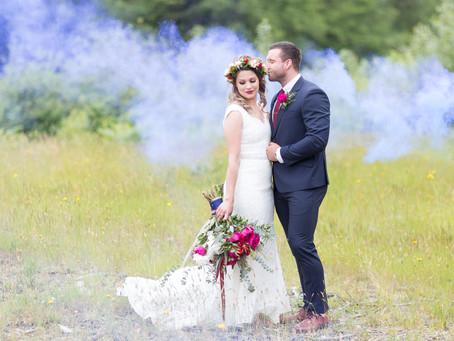 Jewel Toned Forest Wedding - Maple Ridge Bridal Inspiration
