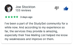 Join StudySet's mailinglist for Free SAT and ACT Prep Questions