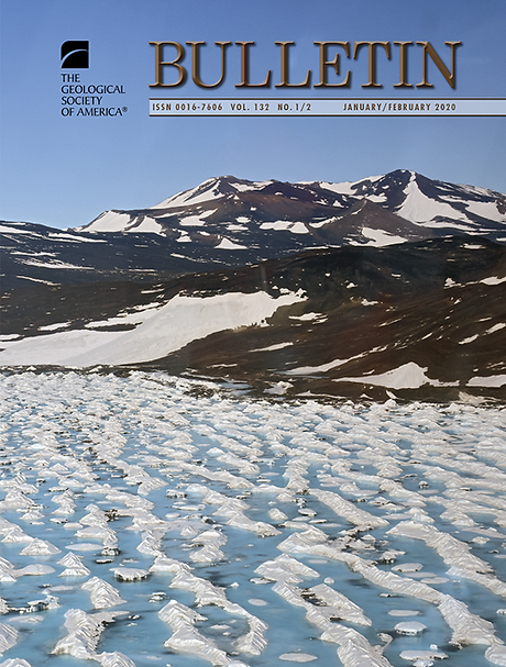 My photograph of Black Island, Antarctica was featured on the cover of GSA Bulletin.