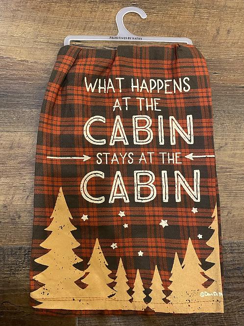 Cabin Tea Towel