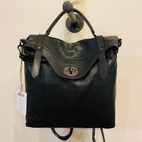 Milo Black Leather Pack