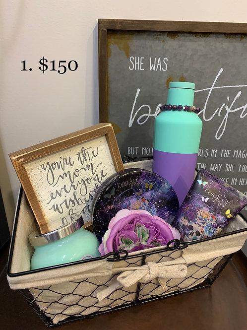 Purple and Teal Basket