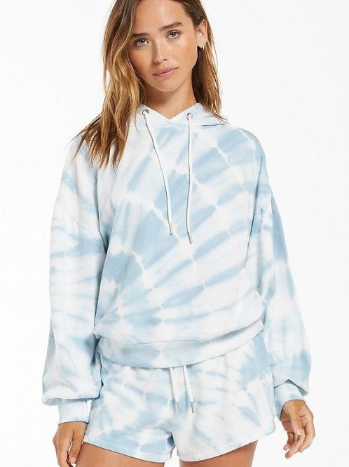 Eva Spiral Tie Dye Hoodie Blue Agave ZSupply