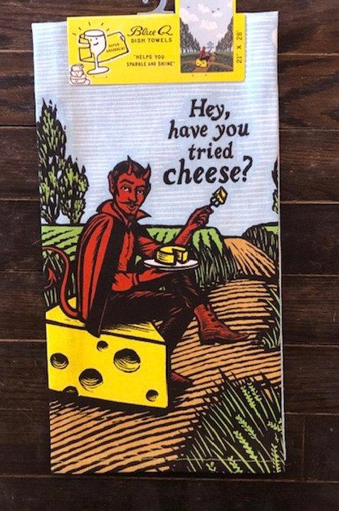 Cheese Blue Q Tea Towel