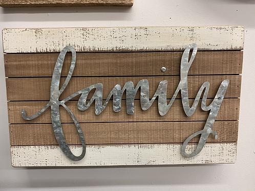 Family Wood Slat sign