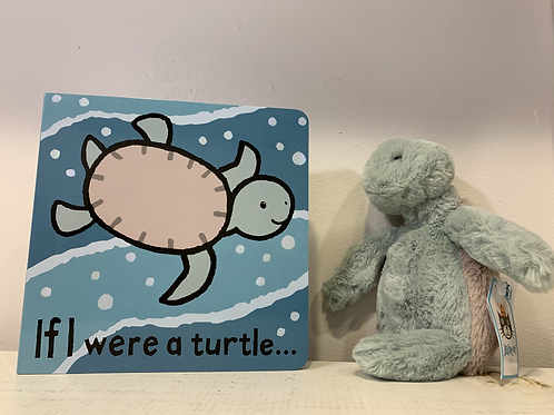 Bashful Turtle and Turtle Book by Jellycat