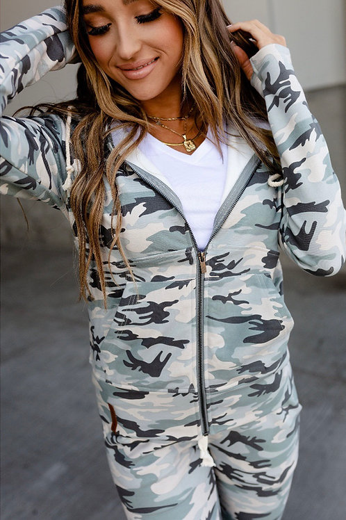 Light CAMO Full Zip Ampersand Sweatshirt