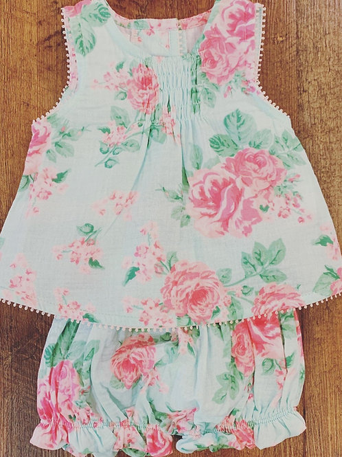 Floral Pinafore and Bloomer