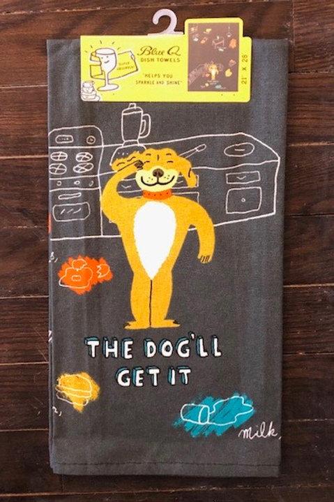 The Dog'll Get It Tea Towel Blue Q