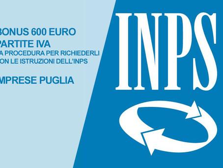 RICHIEDERE IL BONUS €600 PARTITE IVA
