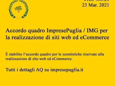 AQ PROT. 453/21 ImpresePuglia / IMG realizzazione siti web eCommerce
