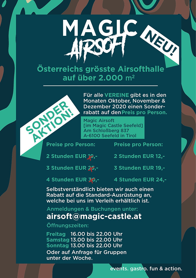 Magic Airsoft (Vereine Aktion) Okt. Nov.