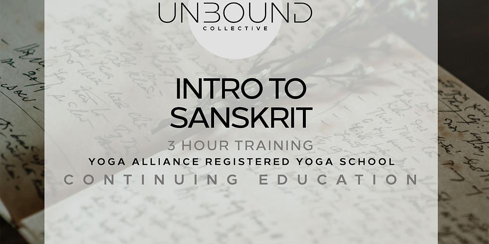 Intro to Sanskrit